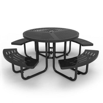Laser Cut Metal Round Picnic Table CAT-032N