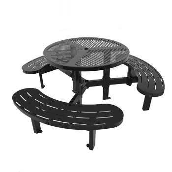 Laser Cut Metal Round Picnic Table CAT-031N