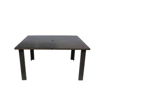 "Limo 60"" Square Dining Table w/Umbrella Hole (CRB)"