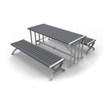 Long Picnic Table with Benches CAT-027