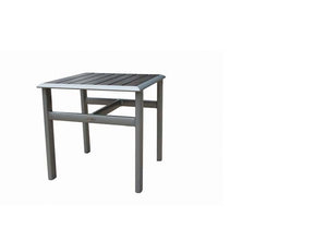 Lucca Side Table w/ Durawood Top & Aluminum
