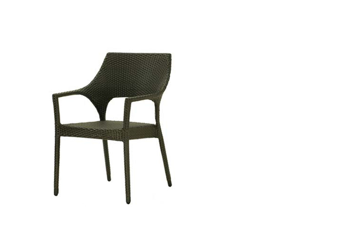 New Miami Lakes Stacking Arm Chair - Resin & Aluminum