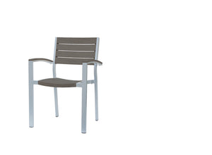 New Mirage Stacking Arm Chair w/Durawood GRO