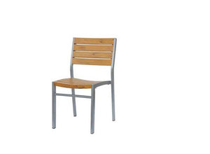 New Mirage Stacking Side Chair w/Durawood - Aluminum