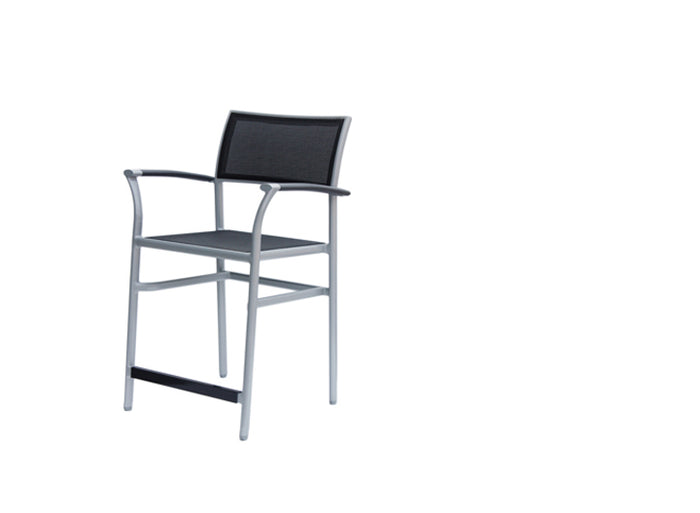 New Roma Sling Counter Chair w/Aluminium Armrest