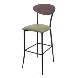 Pina - Flat Black Bar Stool