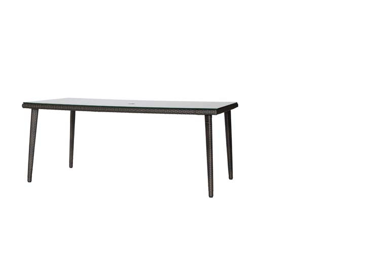 "Palm Harbor 71""x38"" Rectangular Dining Table w/Glass"