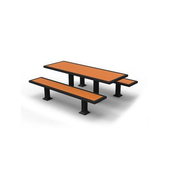 Plastic Wood Picnic Table with Unattached Benches CAT-023