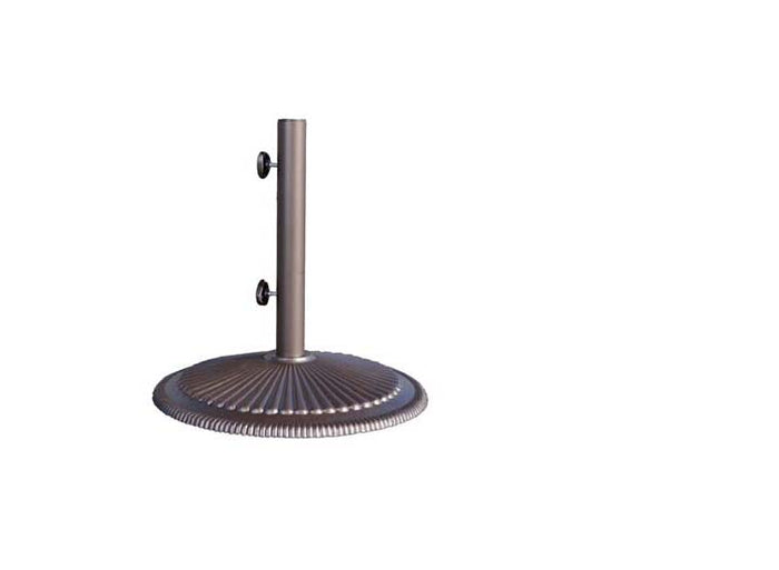 Umbrella Base w/Dual Purpose Stem, Round - Cast Iron