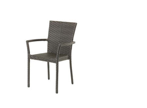 Woodside Stacking Arm Chair - Resin & Aluminum