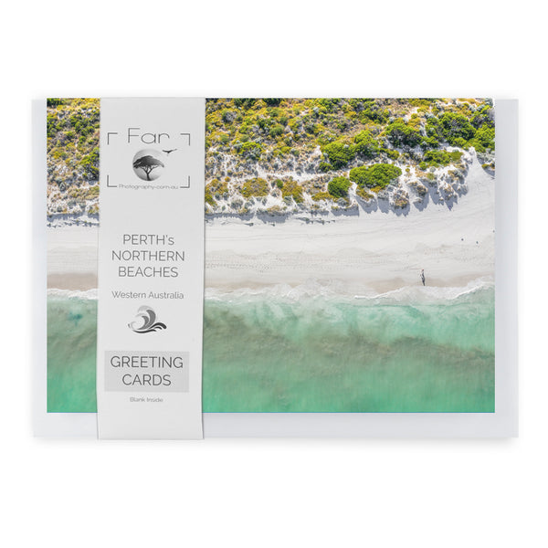 Horizontal Beach Walk Card