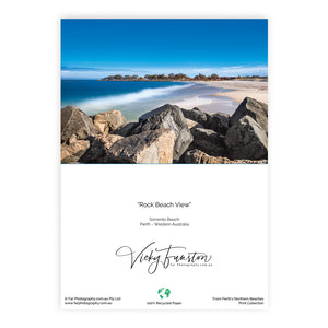 Rock Beach View Card
