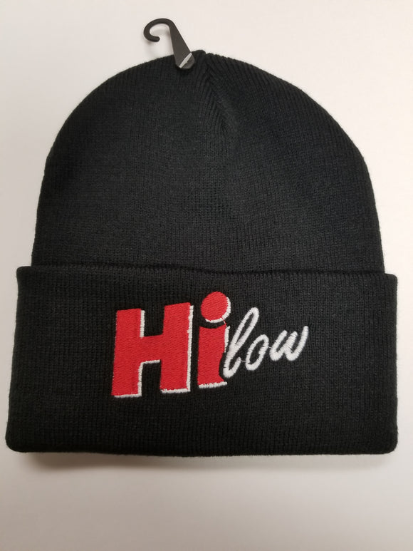 Hi-low beanie knit, embroidered logo