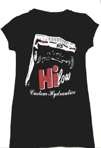 Hi-low ladies v-neck shirt