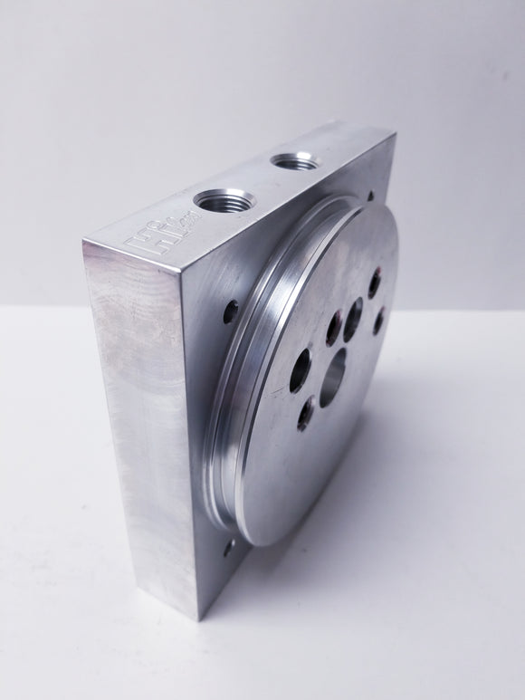 Og series aluminum block 3/8 port