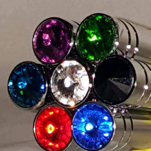 Switch extension, aluminum, chrome, jewel tip any color