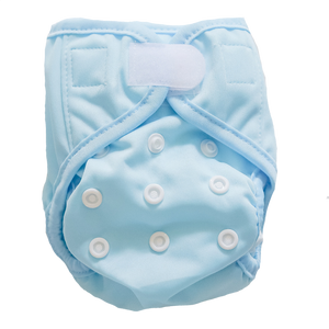 Newborn nappy - Light Blue