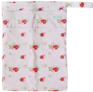 Burgundy Floral Wetbag - Boho Babes Cloth Nappies