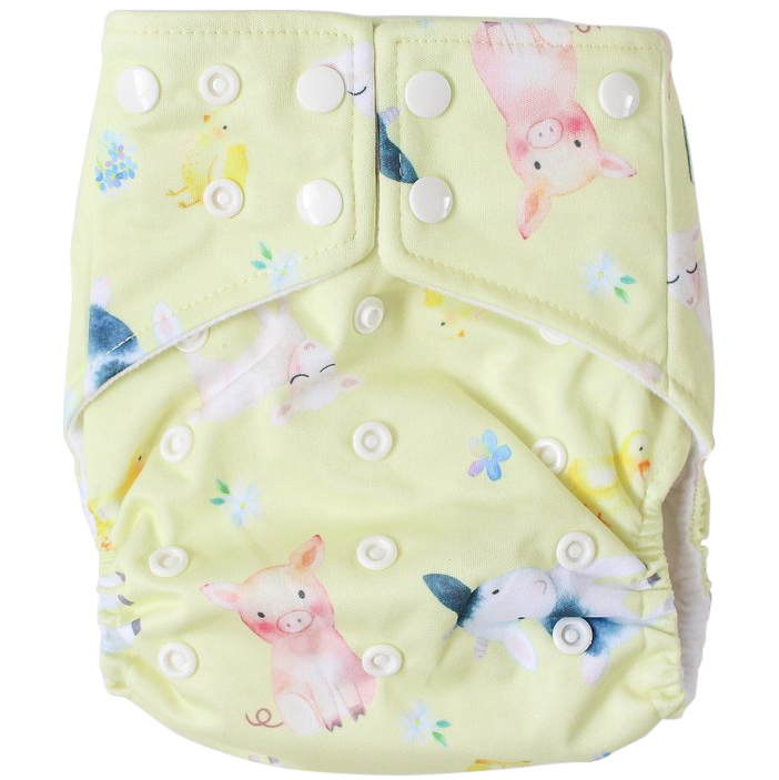 Farmyard Friends OSFM Nappy - Boho Babes Cloth Nappies