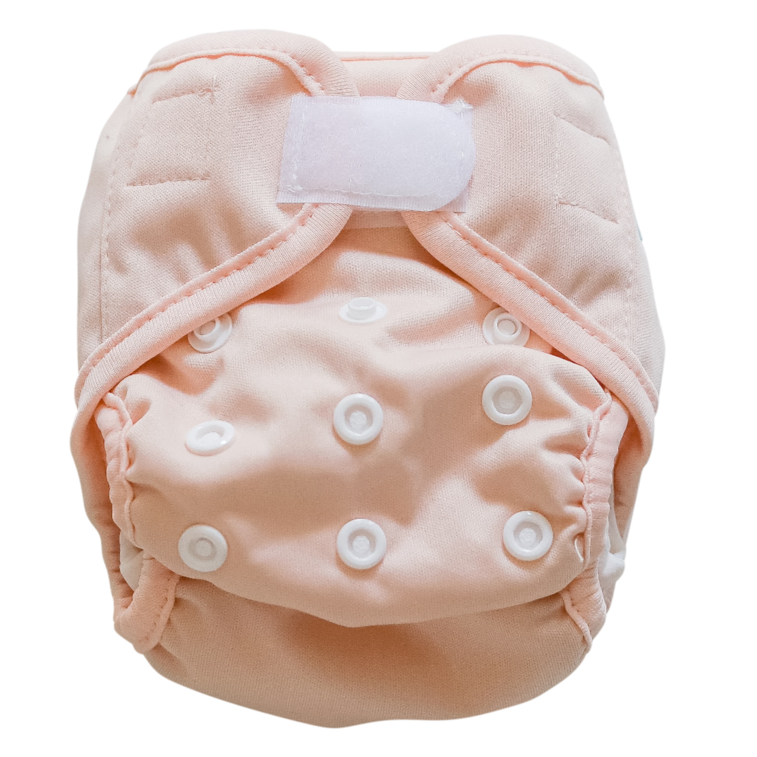 Newborn Nappy - Peach