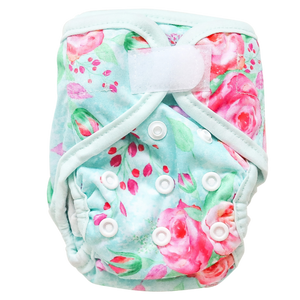 Newborn Nappy - Country Gardens