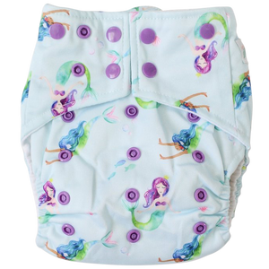 Mermaids OSFM Nappy - Boho Babes Cloth Nappies