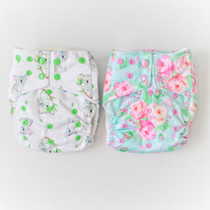 2 Pack of OSFM nappies - Boho Babes Cloth Nappies