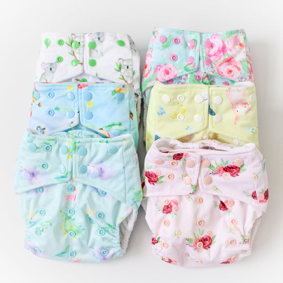Pack of 6 nappies