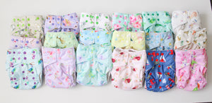 Full time pack - 24 nappies - Boho Babes Cloth Nappies