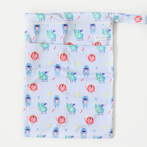 Monsters Wetbag - Boho Babes Cloth Nappies