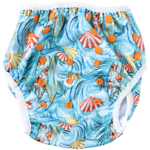 Surf's Up Swim Nappy - Boho Babes Cloth Nappies