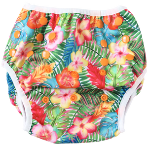 Tropical Hibiscus Swim Nappy - Boho Babes Cloth Nappies