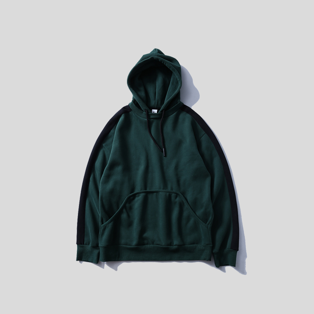 Side Striped Thick Cotton Hoodie