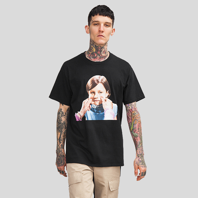 Kid Face Graphic Print Short Sleeve T-shirt