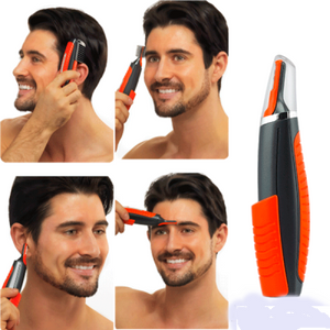 Male 2 In 1 Hair Shaver Beard Eyebrow Nose Hair Shave Blade