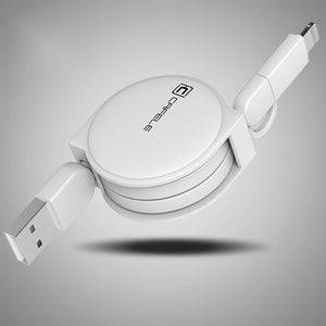 2 in 1 Retractable USB Charging Cable