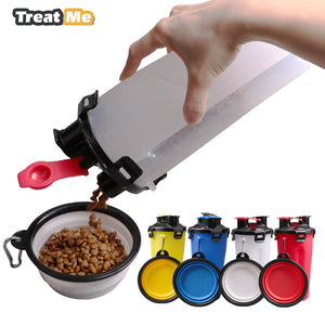 2 in 1 Dog Feeder Bottle