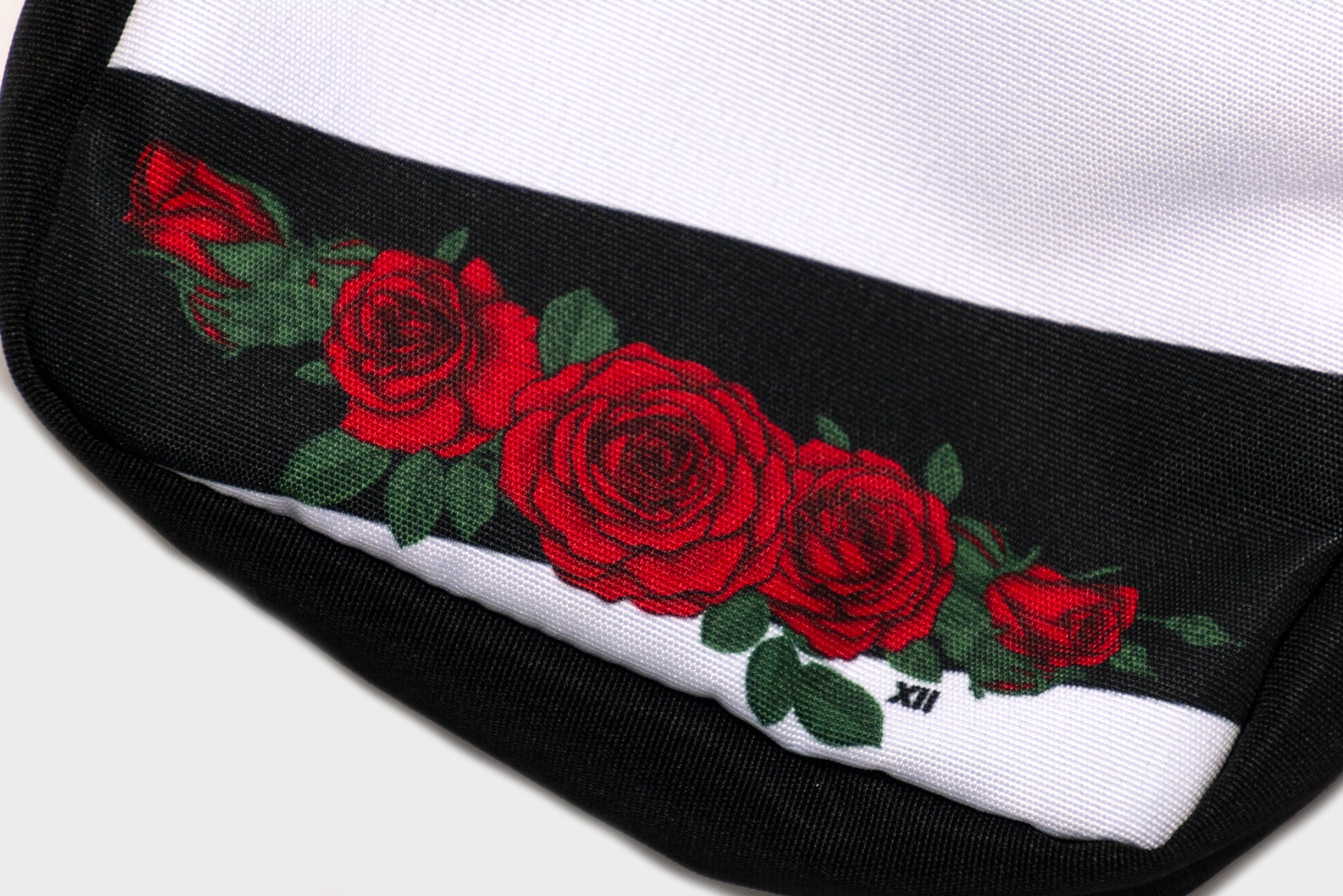 Concrete Rose Cross Body Bag (Black/Red)