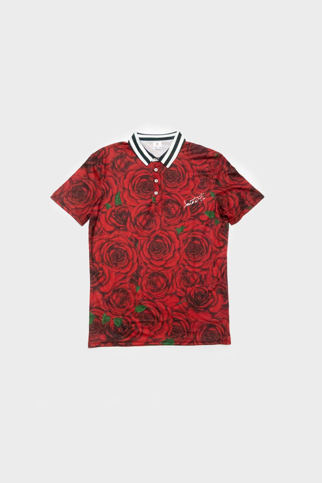 Blooming SS Polo - Rose Red