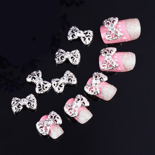 Plated Nail Art Tips 3D Alloy Decoration