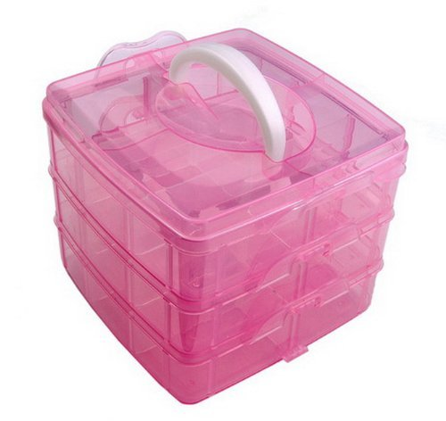 Nail Art Cosmetic Container Box Case