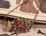 Crystal Peacock multicolor necklace