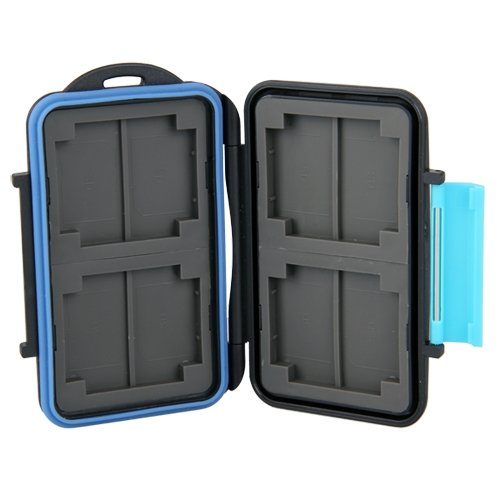 Case Cover Box for Memory Card Waterproof 4 CF or 8 SD