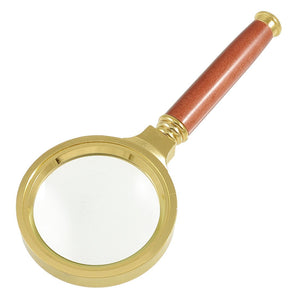 Rosewood Wooden Handle 60mm Dia 15X Magnifier Magnifying Glass