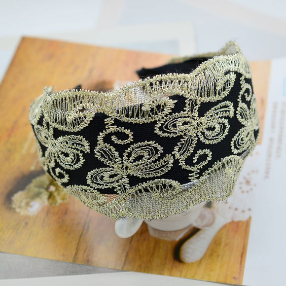 Lace Hair Hoop Headband Flower Hair Jewelry Hairpin Retro Butterfly Ribbon