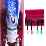 Automatic Toothpaste Dispenser Tooth Brush Holder Set