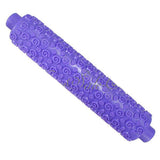 Cake Fondant Sugarcraft Flower spiral Embossing Rolling Pin Stick Decorating
