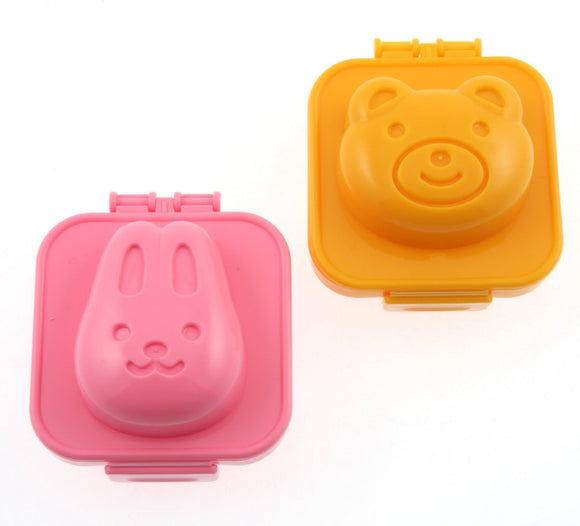 Rabbit and Bear Plastic Egg Mold