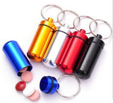 Pill Medicine Box Case Holder Container Capsule Bottle Keyring Keychain