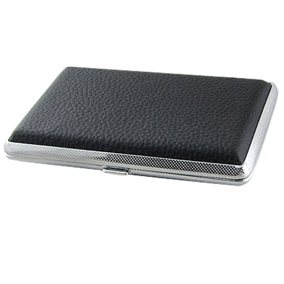 Faux Leather Metal Cigarette Box